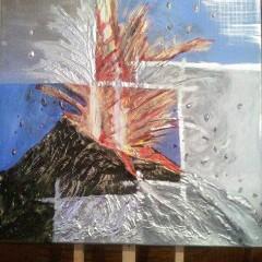 25 volcano. 60x60 3D. Mixto texturizado
